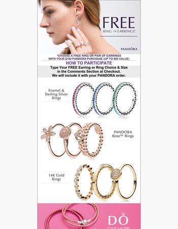 Spend $100 and get a FREE Ring or Pair of Earrings!