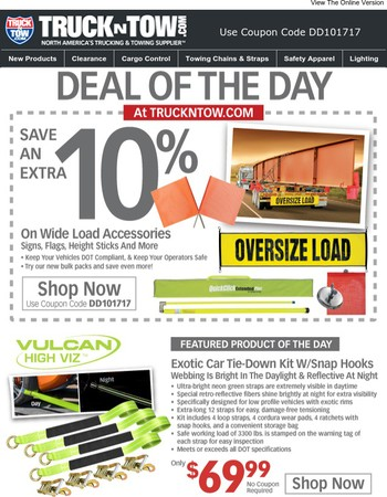 Wide Load Sale - Save An Extra 11%