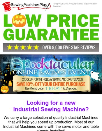 View Our Best Selling Industrial Sewing Machines