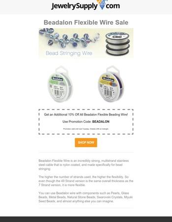 ♥Beadalon Flexible Beading Wire Sale