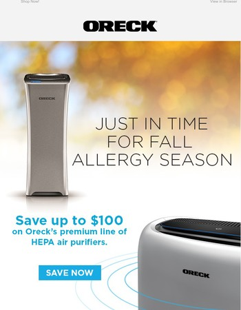Limited Time! Get up to $100 off air purifiers.