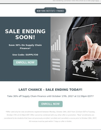 LAST CHANCE - Save 30% On Supply Chain Finance!