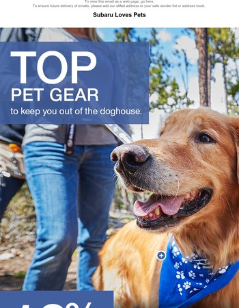 Hurry! Treat your furry friend to 10% off ALL Pet Gear