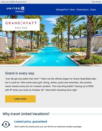 A spectacular resort deserves spectacular savings