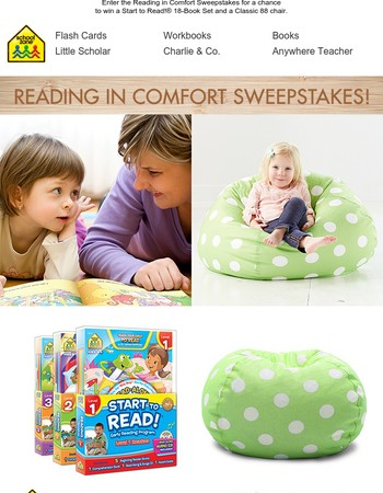 Enter for a Chance to Win the Reading in Comfort Sweepstakes!