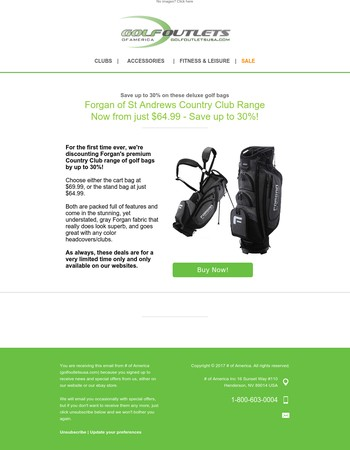 Premium Forgan Golf Bags - Save up to 30%