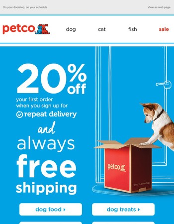 20% off Dog Food + FREE Shipping