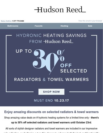 Shop Red Hot Deals on Hudson Reed Hydronic Heating