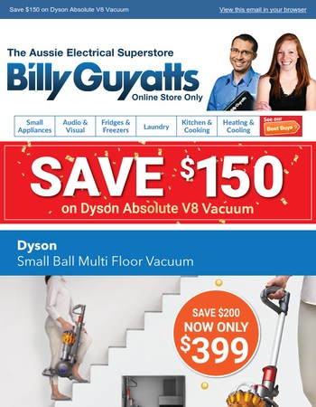 Save $150 on Dyson Absolute V8 Vacuum