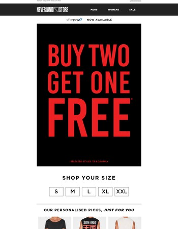 Hey! Buy 2 Get 1 FREE Online!