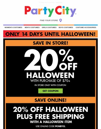 Free shipping with Halloween. Order now.