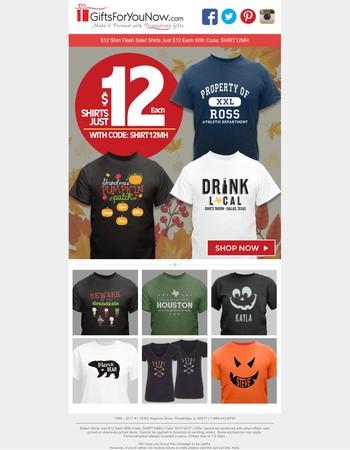 Don't Wait | $12 Shirt Sale Ends Tonight