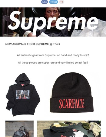 New arrivals from Supreme