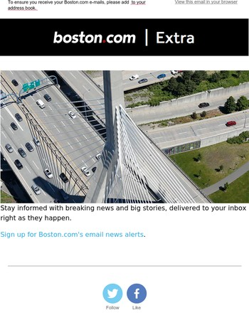 Stay up to date with Boston.com's news alerts