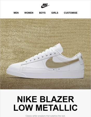 New Nike Blazer Low Metallic