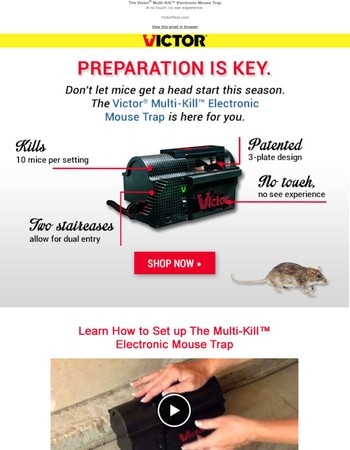 Don't let mice get a head start this season.