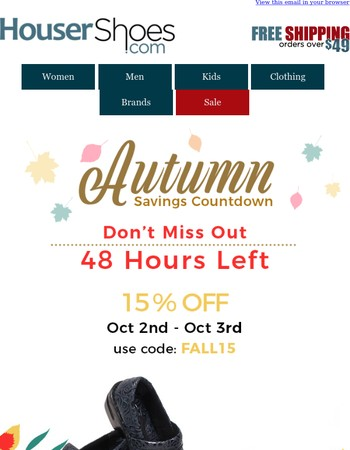 Last Chance To Save On The Autumn Sale! Don't miss out!