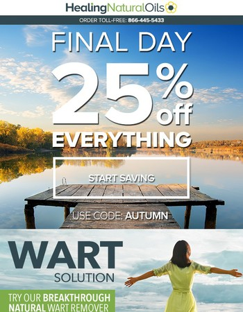 25% off EVERYTHING - Only 12 Hours Left!
