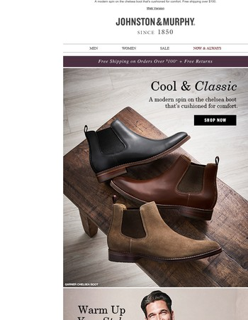 Cool & Classic + 25% Off Select Shoes