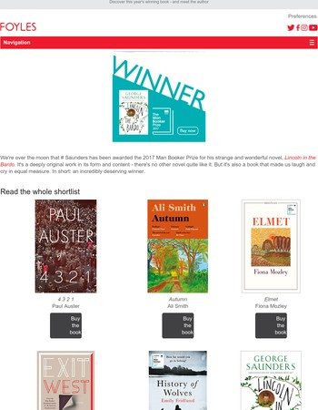 Announcing the winner of the Man Booker Prize 2017