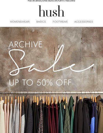 Archive sale! Up to 50% off some old favourites…