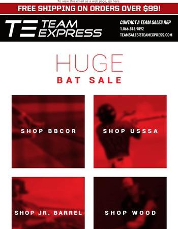 HUGE BAT SALE: Save up to $170