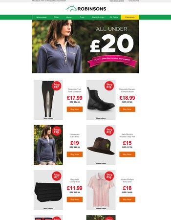 Great deals, unbelievable prices - all under £20