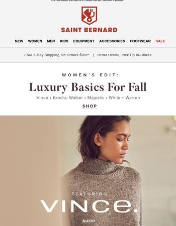 Womens Edit: Luxury Basics For Fall