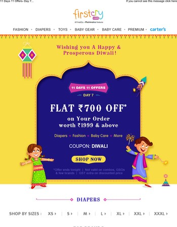 ☀ Diwali Special ☀ Flat Rs. 700 OFF on Your Order