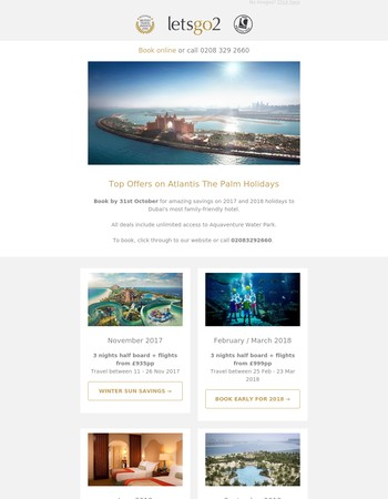 Top Offers on Atlantis The Palm Holidays