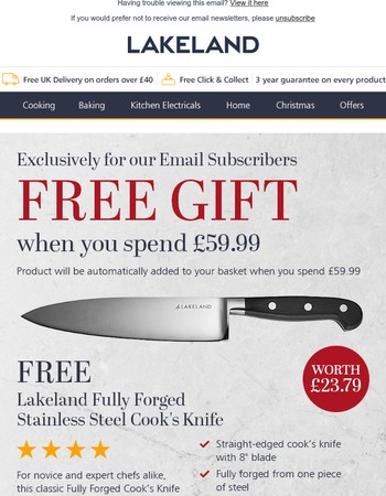 Exclusive FREE GIFT offer – ends Tuesday