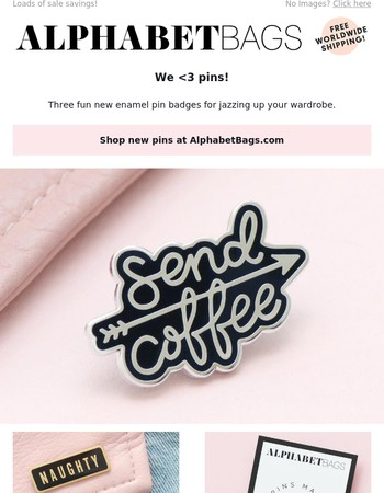 New pins + so much SALE!