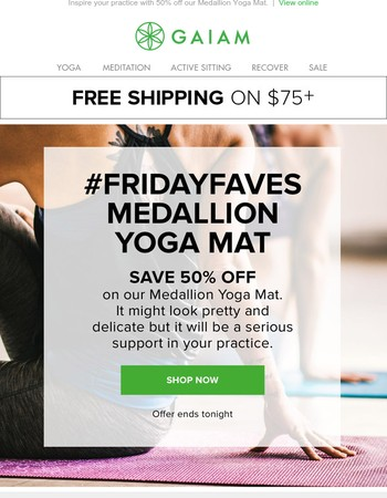 #fridayfaves: Medallion Yoga Mat