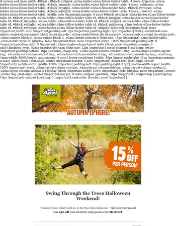 Spend Halloween Weekend At Go Ape!
