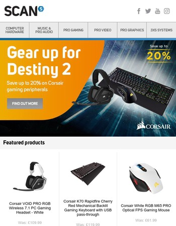 Gear up for Destiny 2 with Corsair