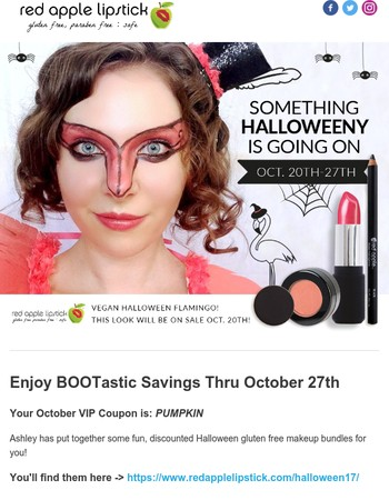 Red Apple Lipstick BOOtastic Savings - happening now