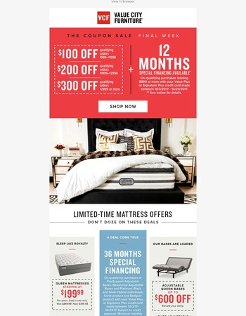 MATTRESS DEALS | Limited-time offers! Don't snooze and lose.