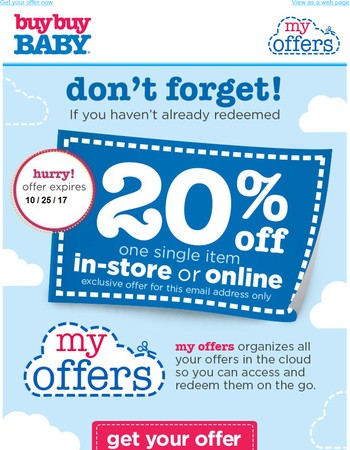 FRIENDLY ANNOUNCEMENT: We've activated your 20% off coupon!