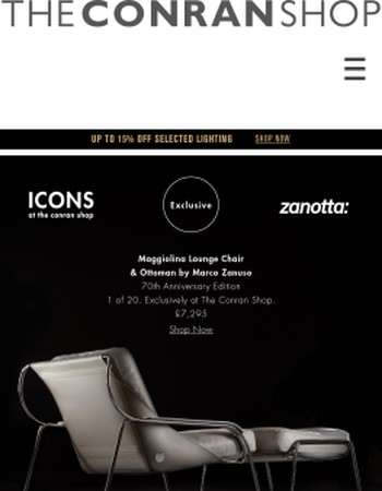 Exclusive 70th Anniversary Maggiolina Lounge Chair & Ottoman