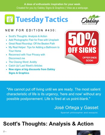 Happy Friday! Catch up on this week's Tuesday Tactics (#430)