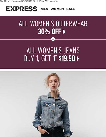 30% off ALL outerwear + how to do denim-on-denim