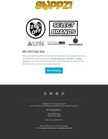 Take 20% off top brands