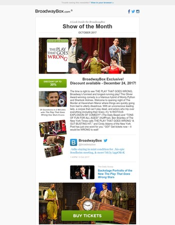 BroadwayBox Show Of The Month: THE PLAY THAT GOES WRONG