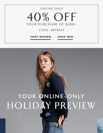 Be first: pre-shop the holiday collection