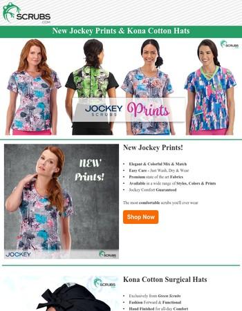 New Jockey Scrub Prints!
