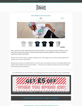 Brand New Site, brand new products, £5 Discount just for you!