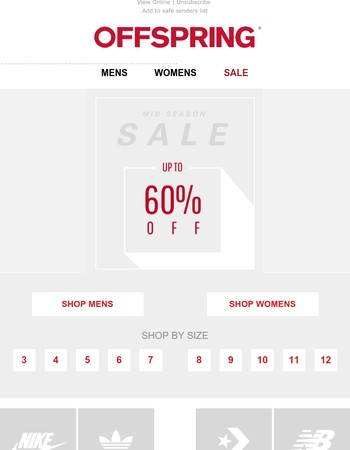 Sale - Now up to 60% off