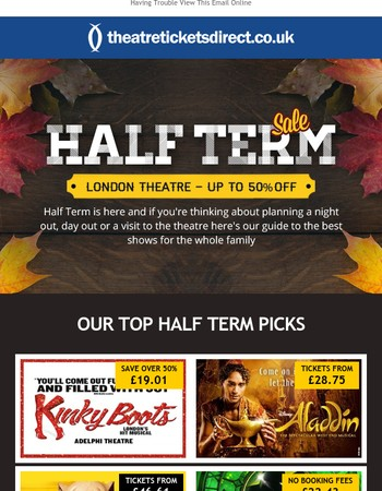 Half Term Best Sellers - Use This Promo Code to Save!