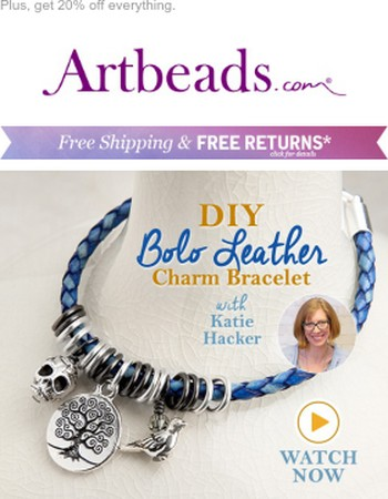 Make a quick and easy leather bracelet!