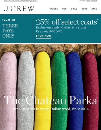 Our best-selling coat of all time is…